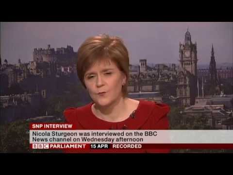 Nicola Sturgeon Interview on BBC News, 15th April 2015`