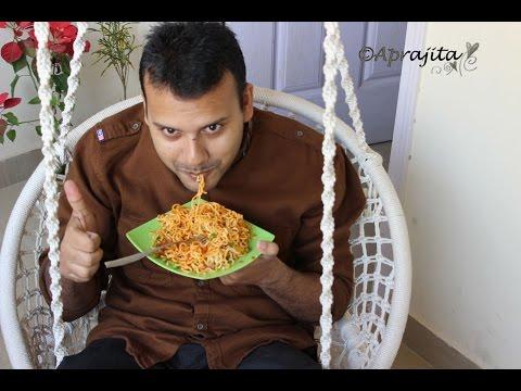 Fried Maggi/ Fried Instant noodles : Veg Version