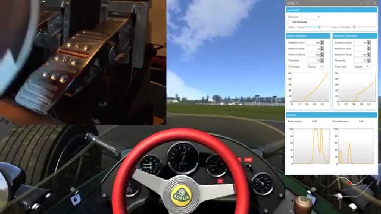 Assetto corsa t rs arduino throttle and brake rumble