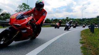 80biji superbike penuhi jalan..mainan 270 ke atas..ada r1m ducati v4r cbr s1k gsxr zx10 rsv4