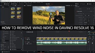 How to get rid of wind noise in Davinci Resolve 16