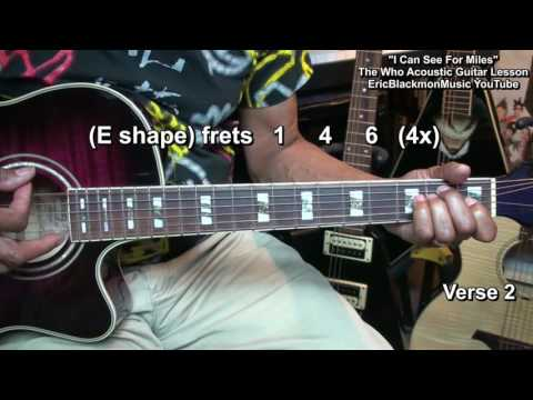 How To Play I Can See For Miles THE WHO ACOUSTIC CHORDS Guitar Lesson EricBlackmonMusicHD