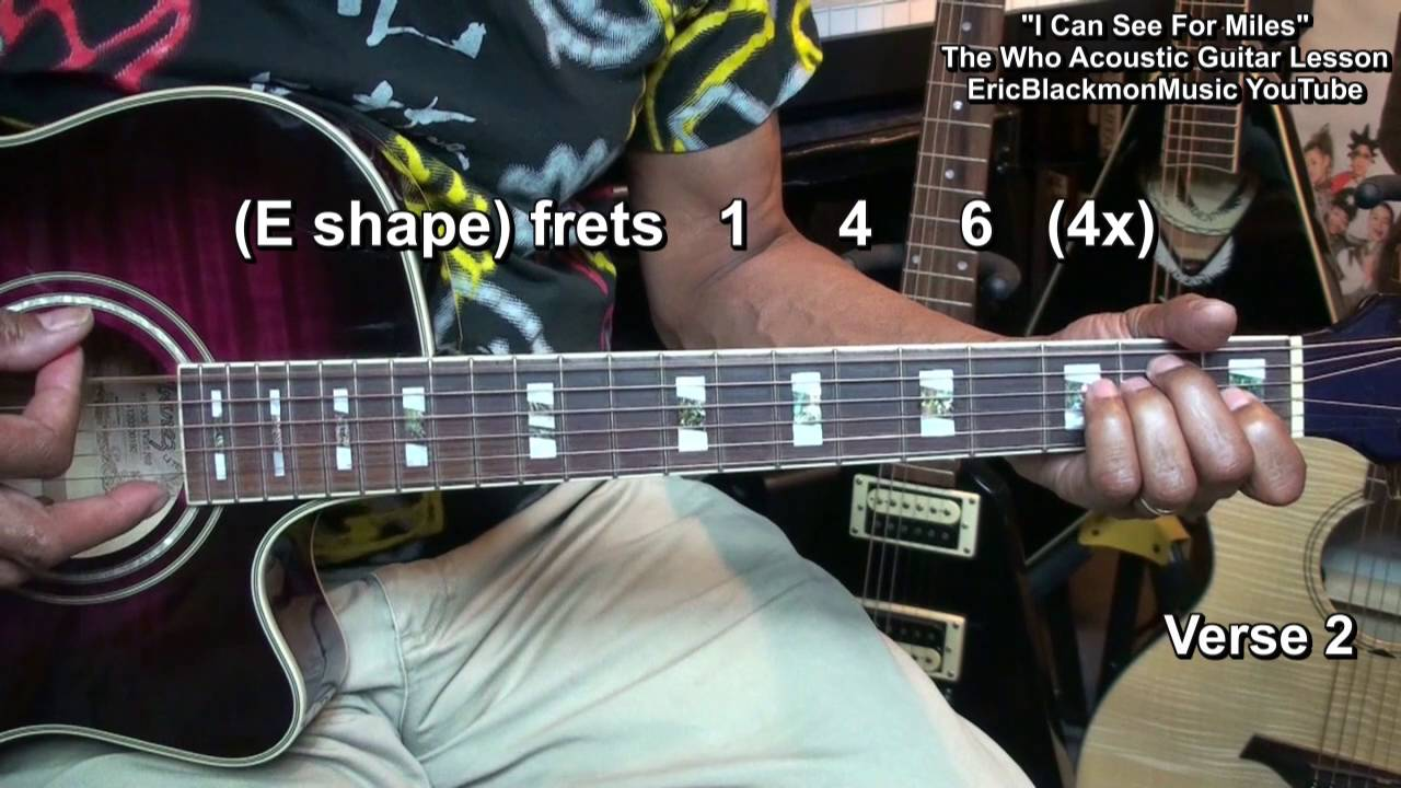 How To Play I Can See For Miles The Who Acoustic Chords Guitar