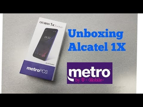 Alcatel 1X Evolve Unboxing and Mini Review For Metro By T-mobile