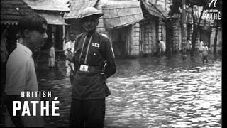 India - Riots Give Way To Floods (1946)