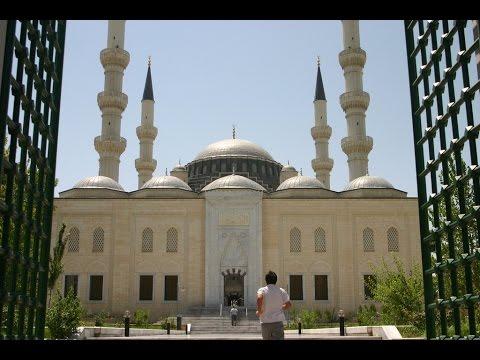 Azadi Mosque in Ashgabat - Turkmenistan   Islamic Videos