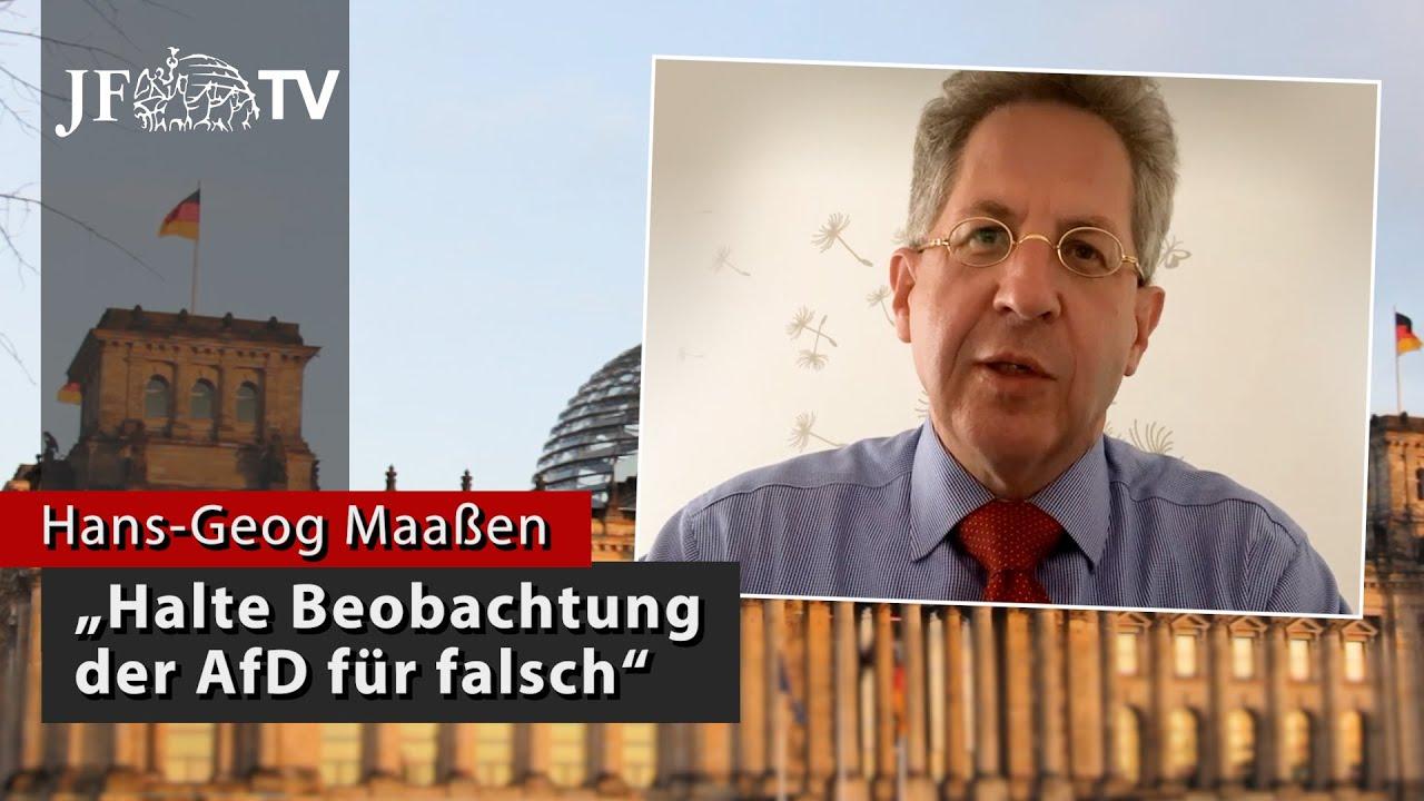 Ex-Verfassungsschutzchef Maaßen: Halte Beobachtung der AfD für falsch (#BTW2021)
