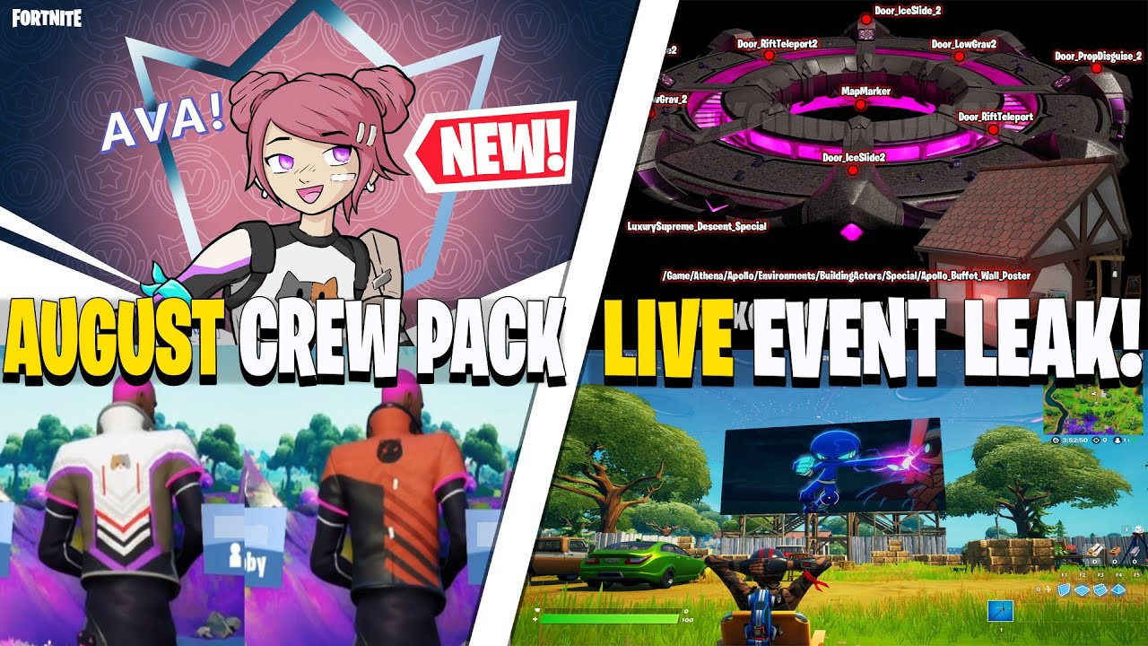 August CREW PACK! (AVA Skin & Wraps) | Live Special Ability Event Leak, Abduct Time TRIALS Glitch!