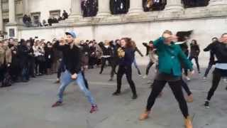 Trafalgar Square Proposal Flash Mob 8 November 2014