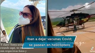 Iván Tornell, ya separado como coordinador en el Plan de Refuerzo de Vacunación en Chiapas, invitó a Elvira Martí para realizar el traslado, pero en el trayecto se dirigieron al Cañón del Sumidero para un tour