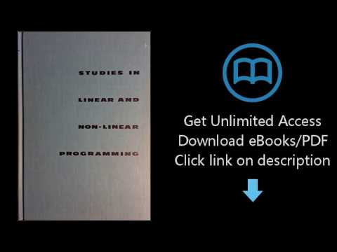 Download Studies in linear and non-linear programming, (Stanford mathematical studies in the [P.D.F]