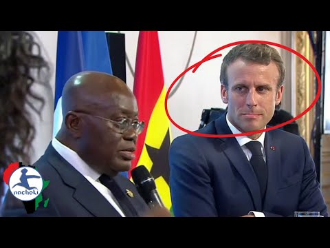 Ghana President Disses Macron Says African Diaspora to Bring Back Wealth Stolen by Europe