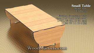 Small Table: 3d Assembly Animation (1080hd)