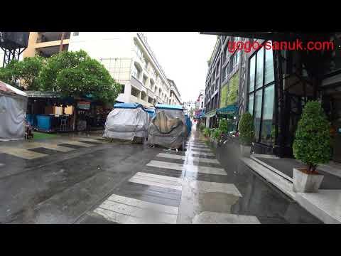 Pattaya City walk Rainy Day
