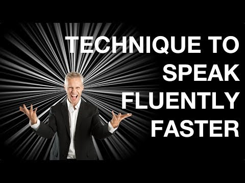 The Secret Technique To Speak Fluently Faster