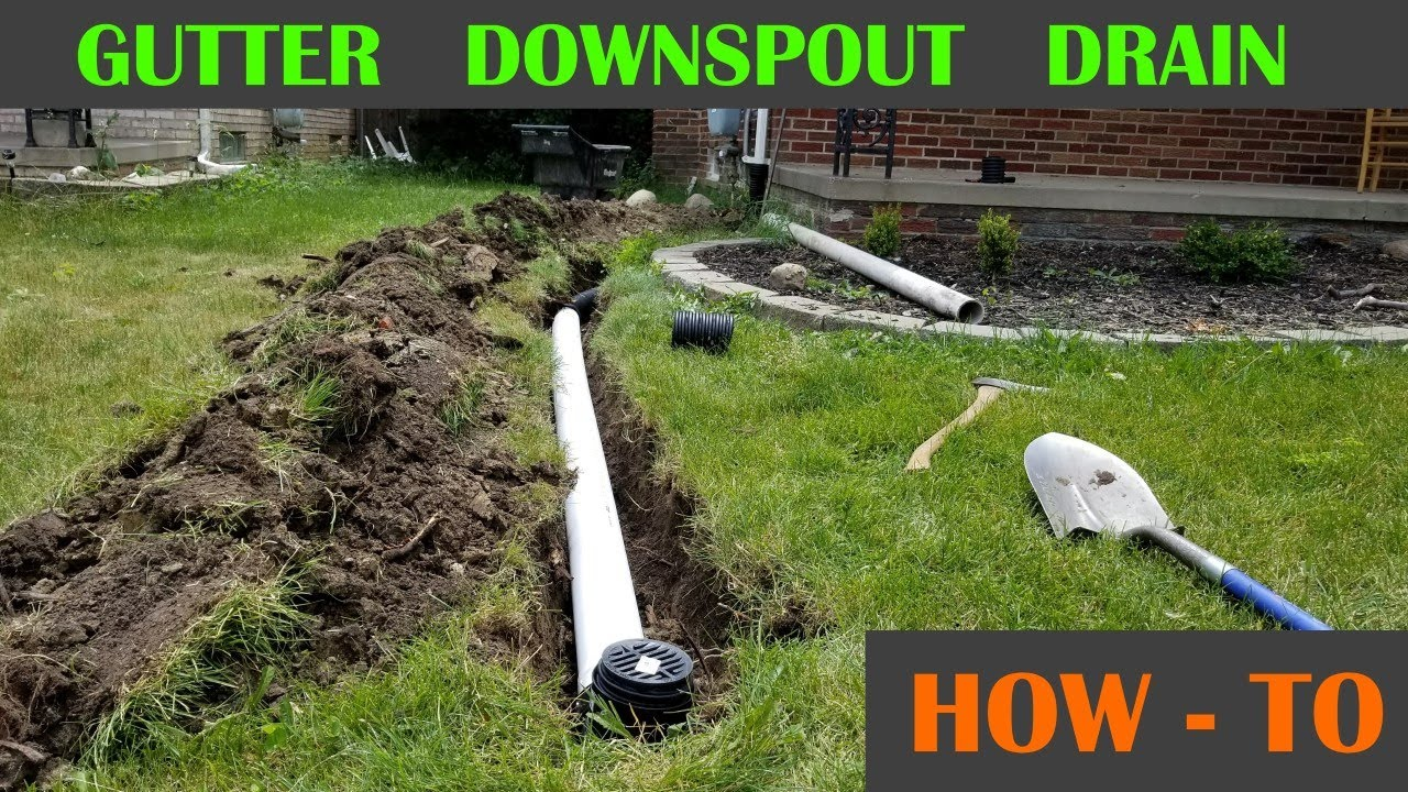 Relatively Underground Roof Gutter Drain Pipe - YouTube TT76
