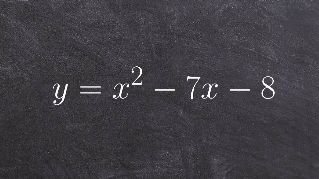 Algebra 2  Learn How To Solve A Quadratic Equation Using A Step By Step  Method Y=x^2‐7x‐8