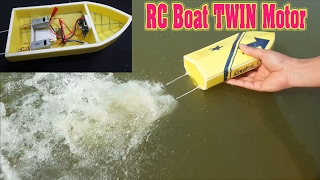 How To Make mini RC Boat Twin 180 Motor