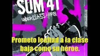 Sum 41 Underclass Hero(Subtitulada Español)