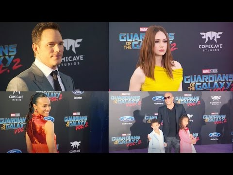 'Guardians of the Galaxy Vol. 2' Red Carpet Premiere (2017) | Chris Pratt Marvel Movie HD