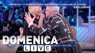 Domenica Live - Rissa sfiorata tra Lemme e l'attrice Rinaldi