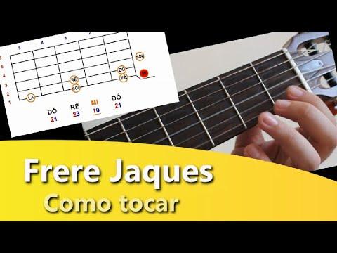 FRERE JACQUES - (Meus dedinhos) - Violão iniciante