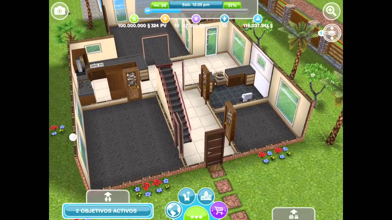 Sims gratuito casas que se compran con ps youtube for Casa de diseno the sims freeplay