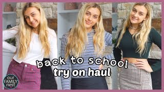 Back to School Clothes Try On Haul