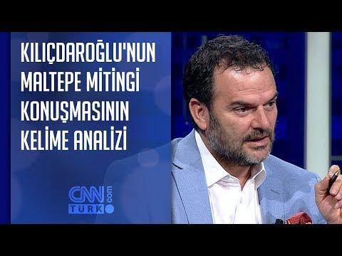 Kılıçdaroğlu'nun Maltepe mitingi konuşmasının kelime analizi
