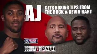 Kevin Hart & The Rock give tips to AJ ahead of his title defence, 25th June, Sky Sports Box Office