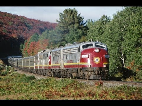 FINE looking F9's on the Algoma Central's Agawa Canyon Tour Train. 9/23/1997