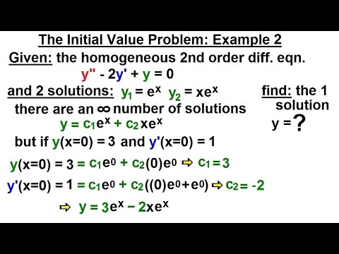 Differential Equation 2nd Order 10 Of 54 The Initial Value