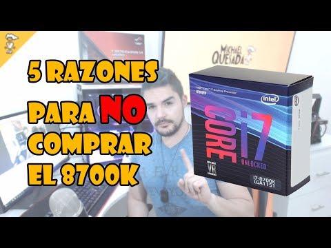 5 razones para NO comprar el nuevo Intel i7 8700k SI SOLO VAS A JUGAR...