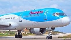 Plane Spotting at Skiathos Airport - Part 2 - Thomson Airways Boeing 737 757