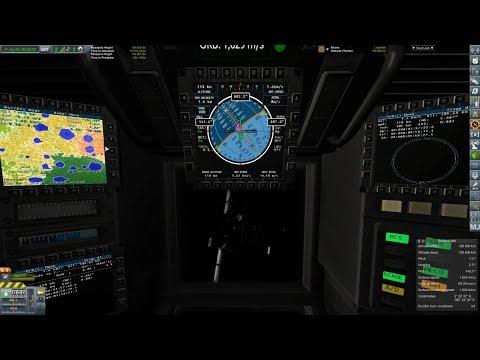 KSP RSS Principia E17 - IVA Lunar Landing