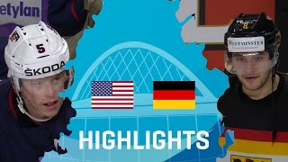 USA - Germany   Highlights   #IIHFWorlds 2017