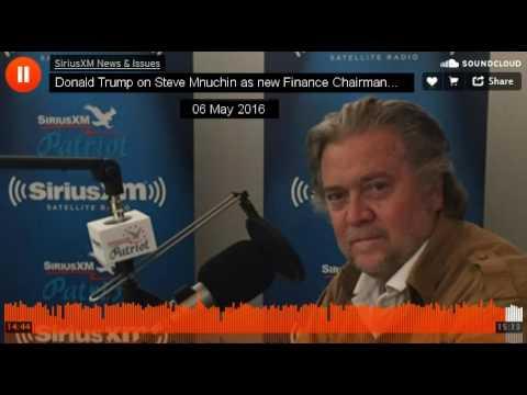 Donald Trump on Steve Mnuchin New Campaign Finance Chair (May 2016)