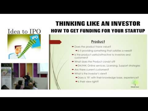 9-26-16 Think Like an Investor: How To Get Funding for Your Startup