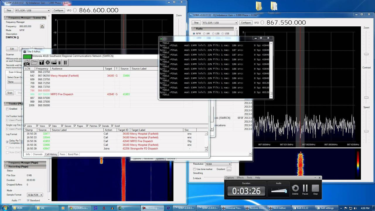 SWRCN Motorola Digital DSD Decode Unitrunker SDR# RTL-SDR