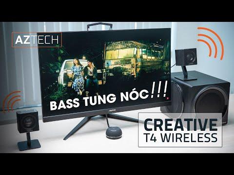 Bass không đối thủ trong phân khúc !!! - Đánh giá Loa để bàn Creative T4 Wireless.