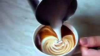 Латте арт    рисуем на кофе