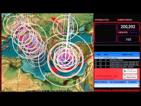 8/07/2017 -- South Europe / Mediterranean Earthquake forecast hit -- Greece + Turkey moving