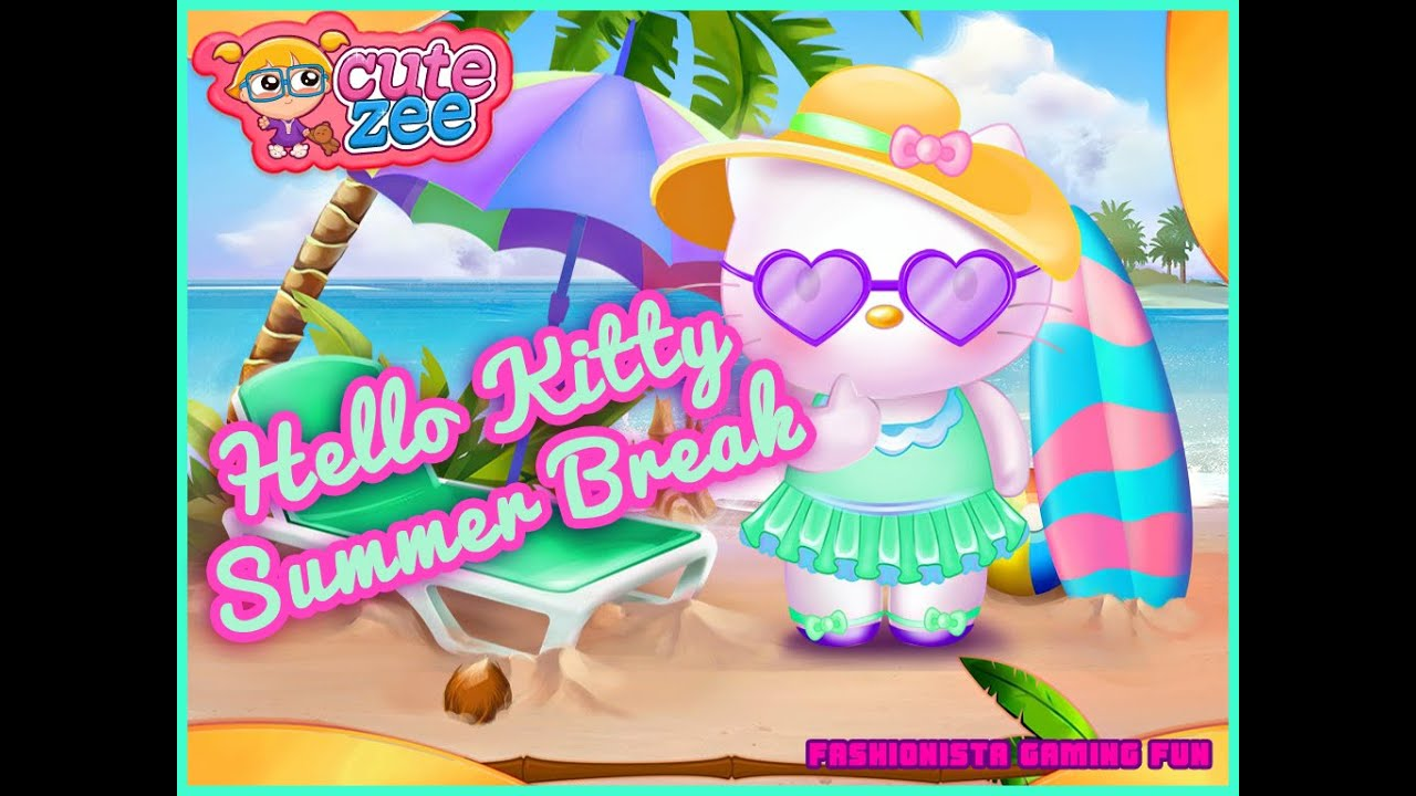 hello kitty summer break fun online dress up games for
