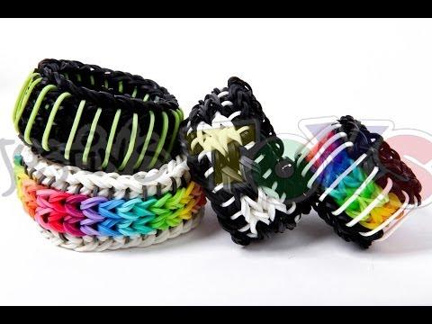 OFFICIAL Sailors Pinstripe 1 ONE Loom & No Transfers Reversible Rainbow Loom Bracelet Easy Tutorial