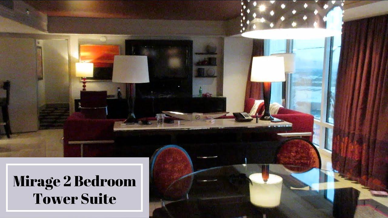 mirage las vegas - two bedroom tower suite - youtube