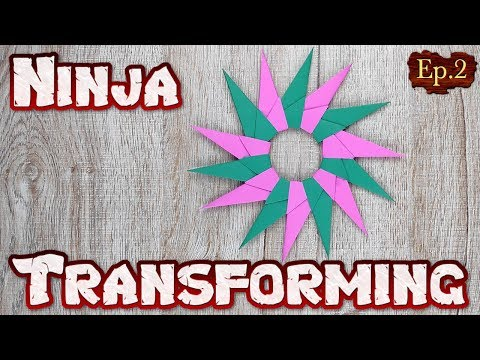 Origami Transforming Ninja Star | How To Making Easy A Weapons Paper Tutorial | DIY Weapon Toys Ep.2