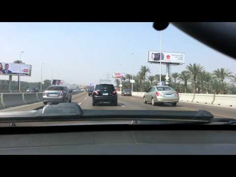 Driving in Egypt mehwar road - Cairo to 6th of October City HD