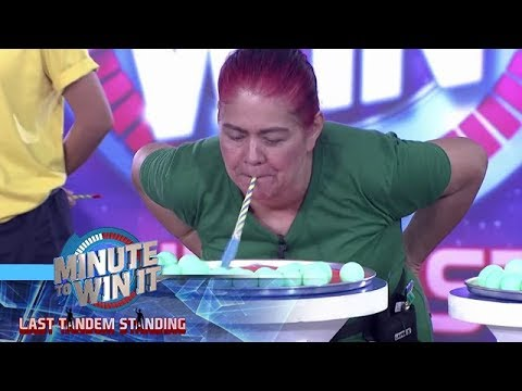 Blow Out | Minute To Win It - Last Tandem Standing