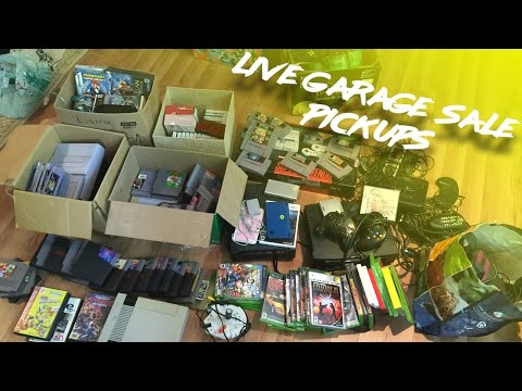 Live Garage Sale Pickups - My Best Day Ever? Amazing SNES Haul...