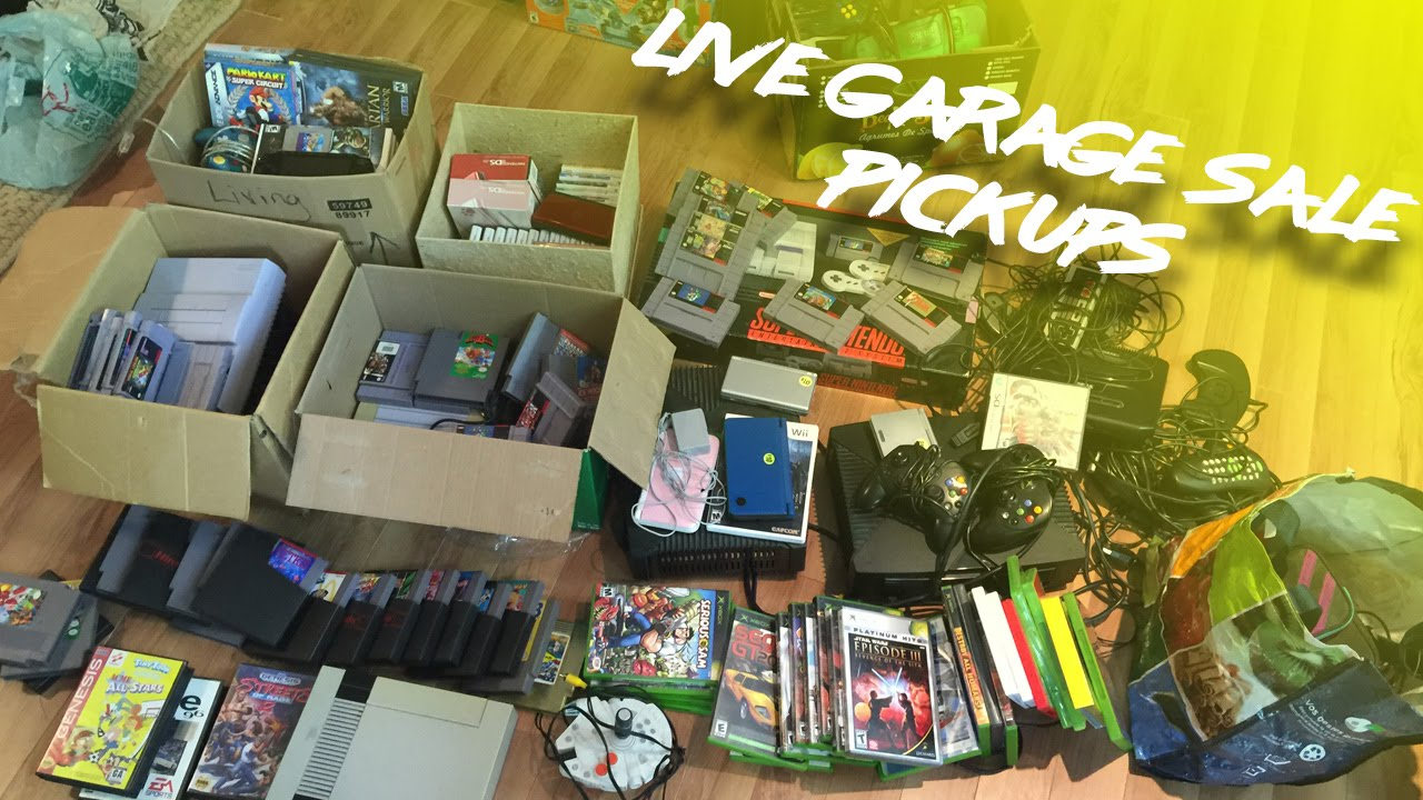 best garages to live in. Live Garage Sale Pickups  My Best Day Ever Amazing SNES Haul YouTube